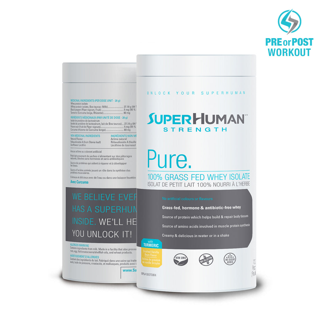 SuperHuman Strength Grass Fed Whey Isolate Protein