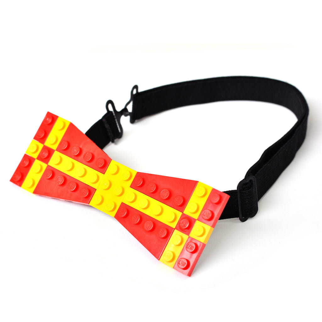 Red with yellow cross pattern