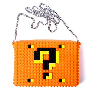 Orange Question mark zipbag