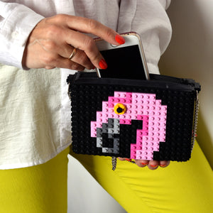 Black Flamingo zipbag
