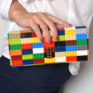 Multicolor clutch with goldplated lock
