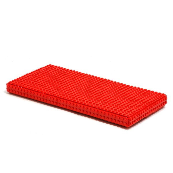 Red oversize clutch