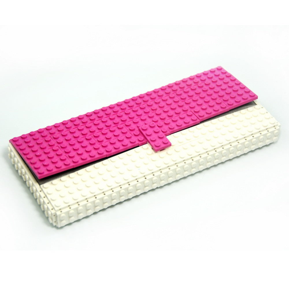 Limited Edition - pink & white clutch