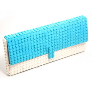 Limited Edition - azure & white clutch