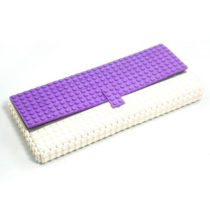 Limited Edition - lavender & white clutch