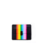 Black rainbow clutch