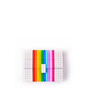 White rainbow clutch