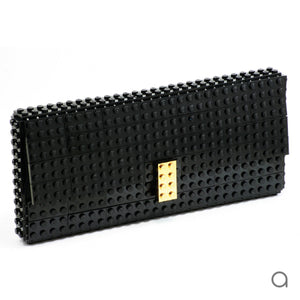 Black clutch with goldplated lock
