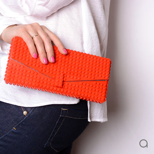Red envelope flap clutch