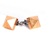 Goldplated pyramids cufflinks