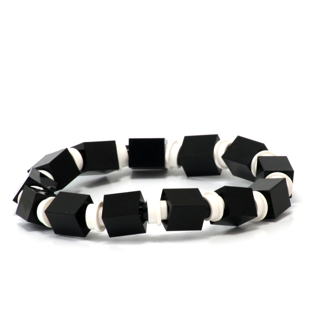 black & white beaded bracelet