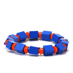 blue & orange beaded bracelet
