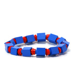 blue & red beaded bracelet