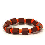 brown & orange beaded bracelet