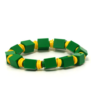 green & yellow beaded bracelet