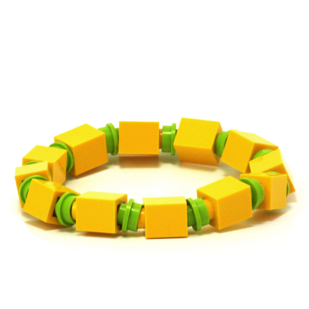 yellow & lime beaded bracelet