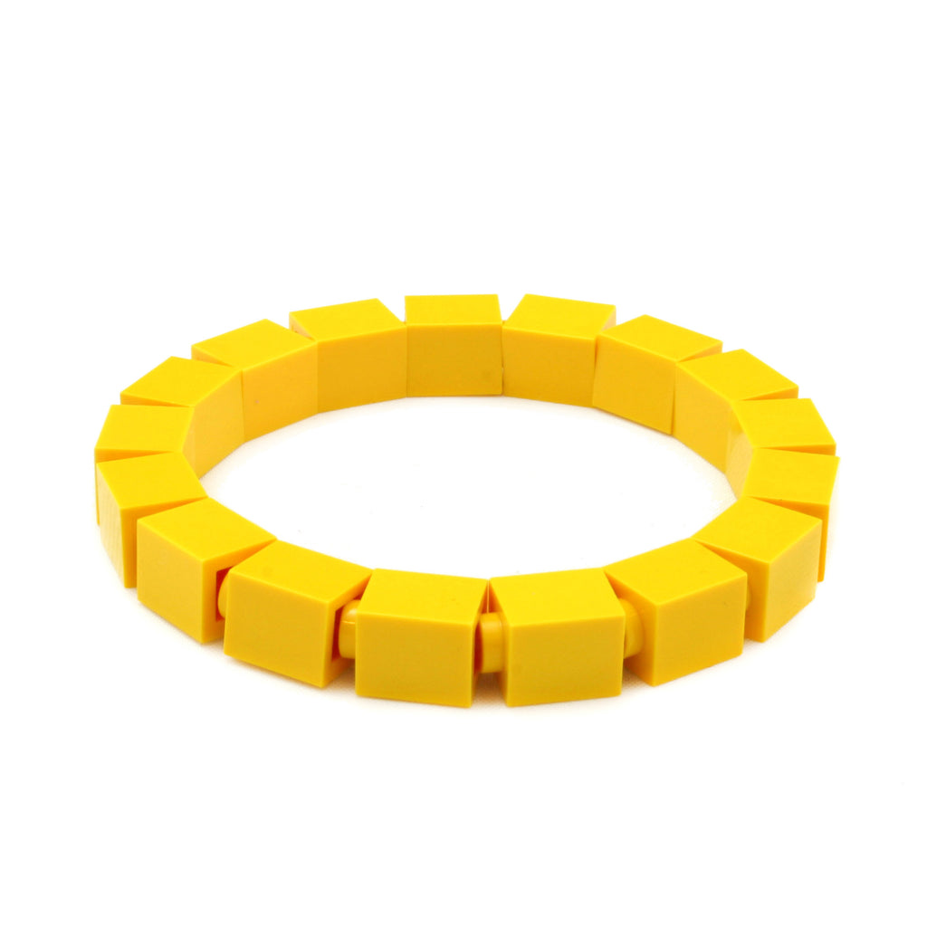 yellow slim bracelet