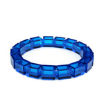 transparent blue slim bracelet