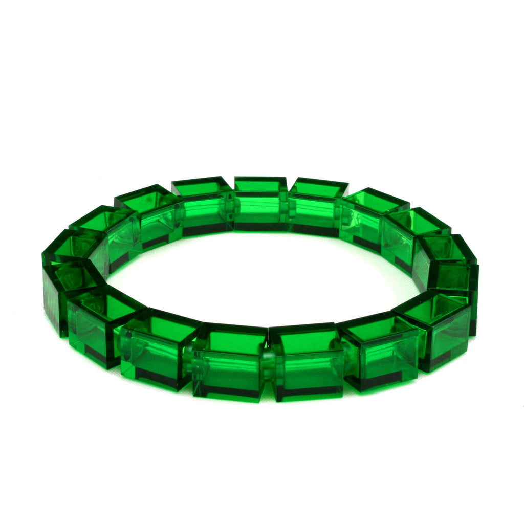 transparent green slim bracelet
