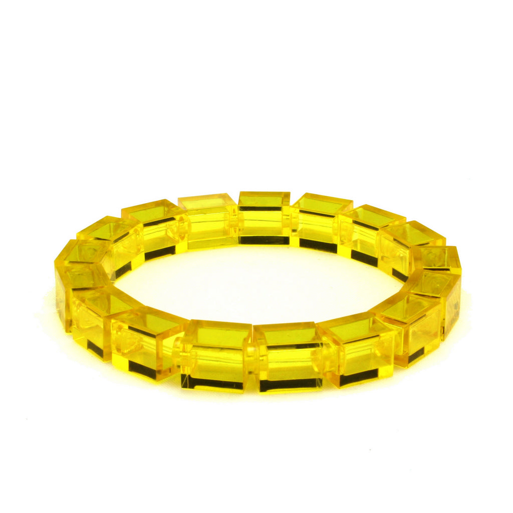 transparent yellow slim bracelet