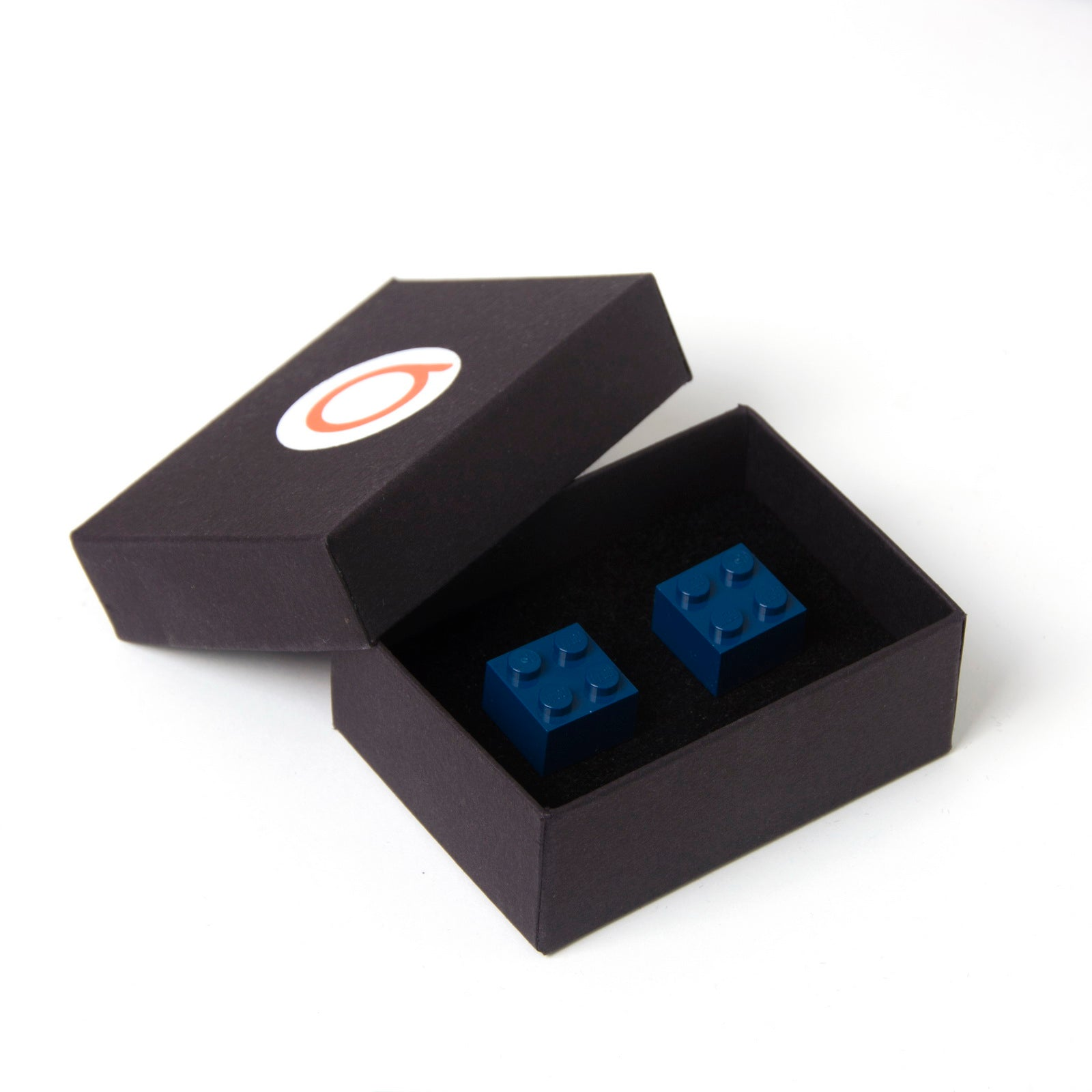dark blue cube cufflinks