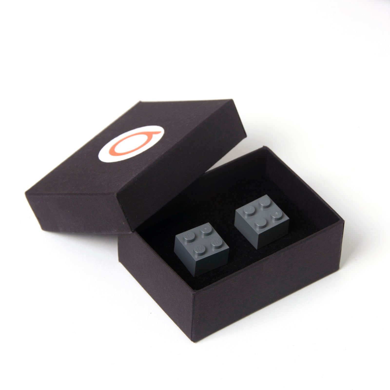 dark grey cube cufflinks
