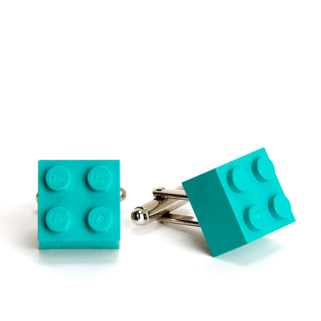 turquoise cube cufflinks