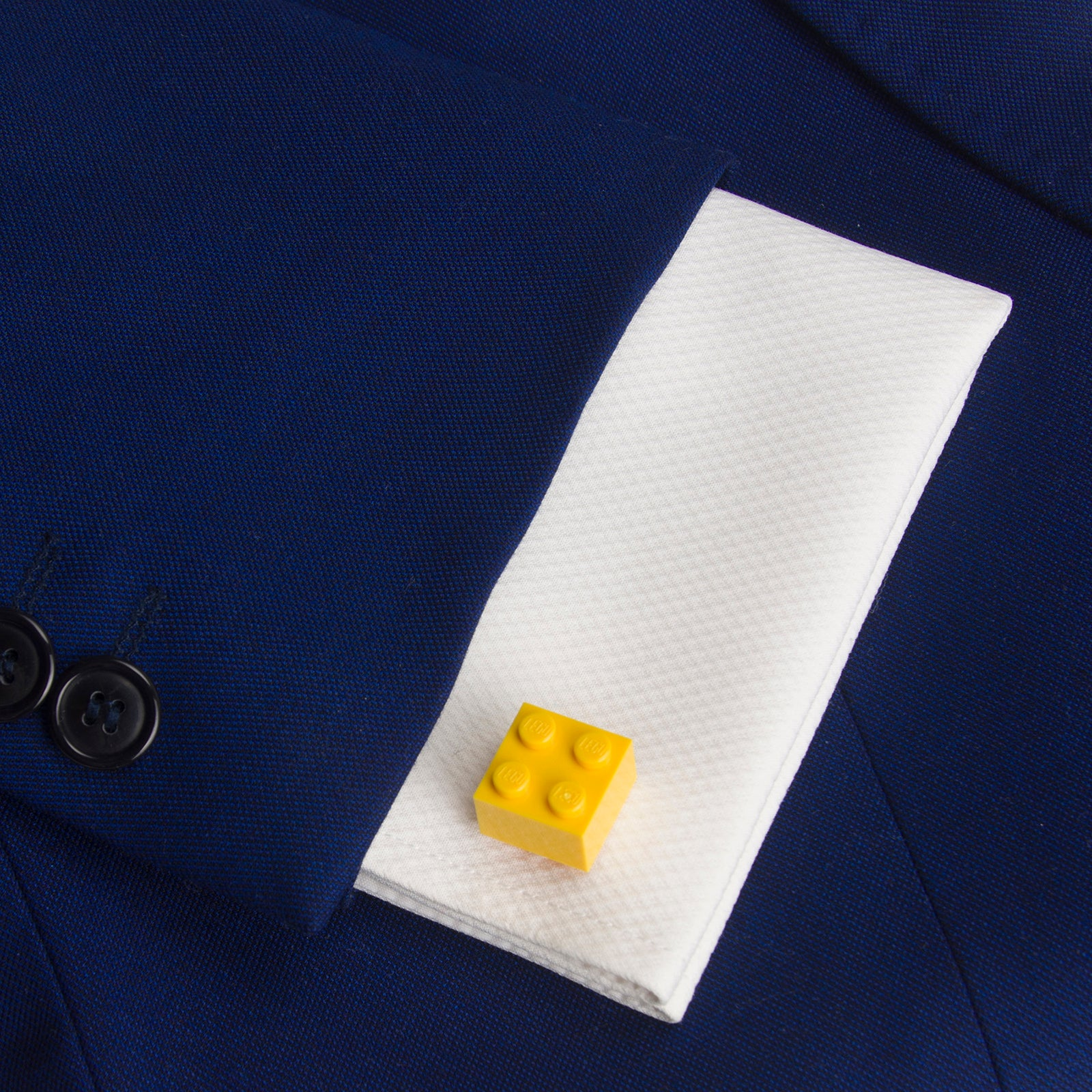 yellow cube cufflinks
