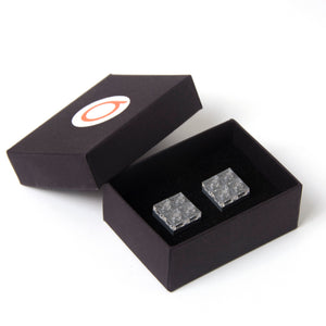 dark grey diamonds cufflinks