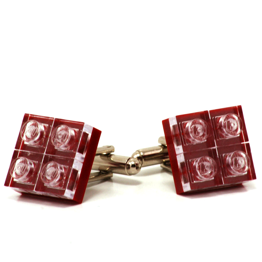 dark red  diamonds cufflinks