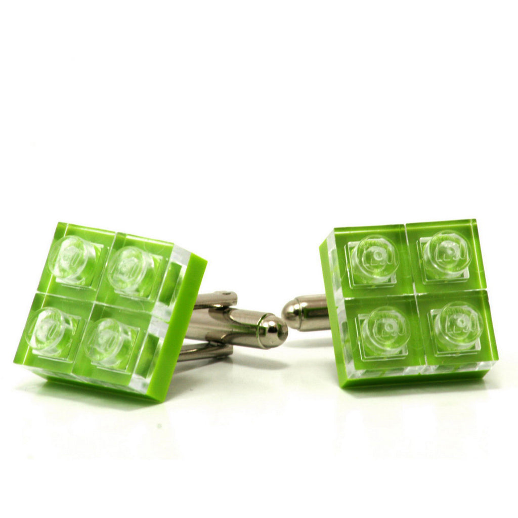 lime diamonds cufflinks