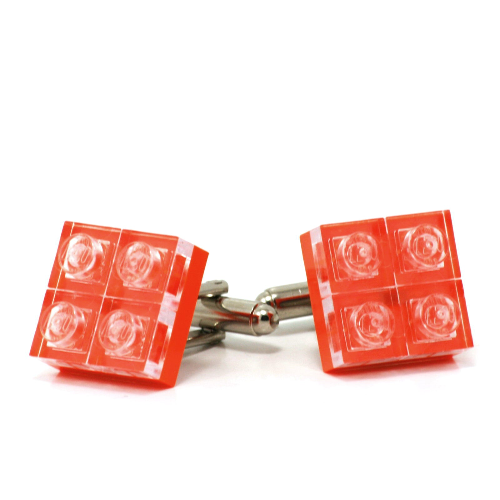 orange diamonds cufflinks