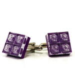 purple diamonds cufflinks