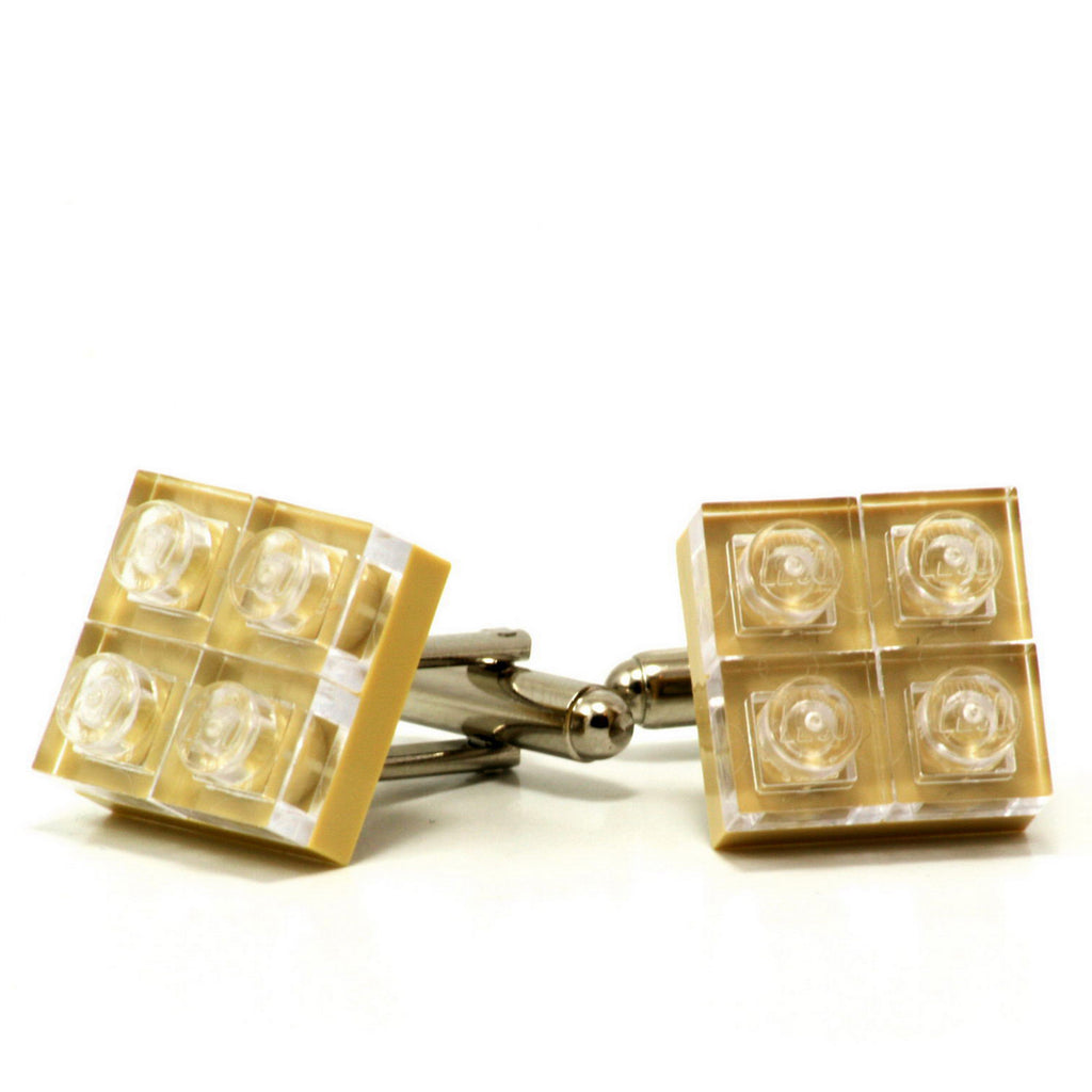 tan diamonds cufflinks