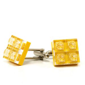 yellow diamonds cufflinks