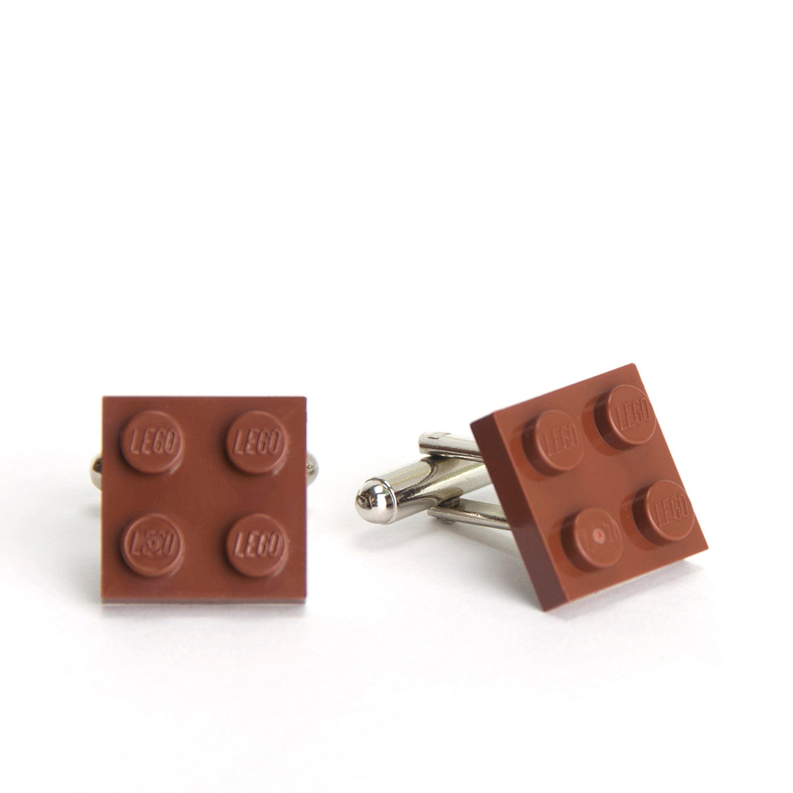 brown flat cufflinks
