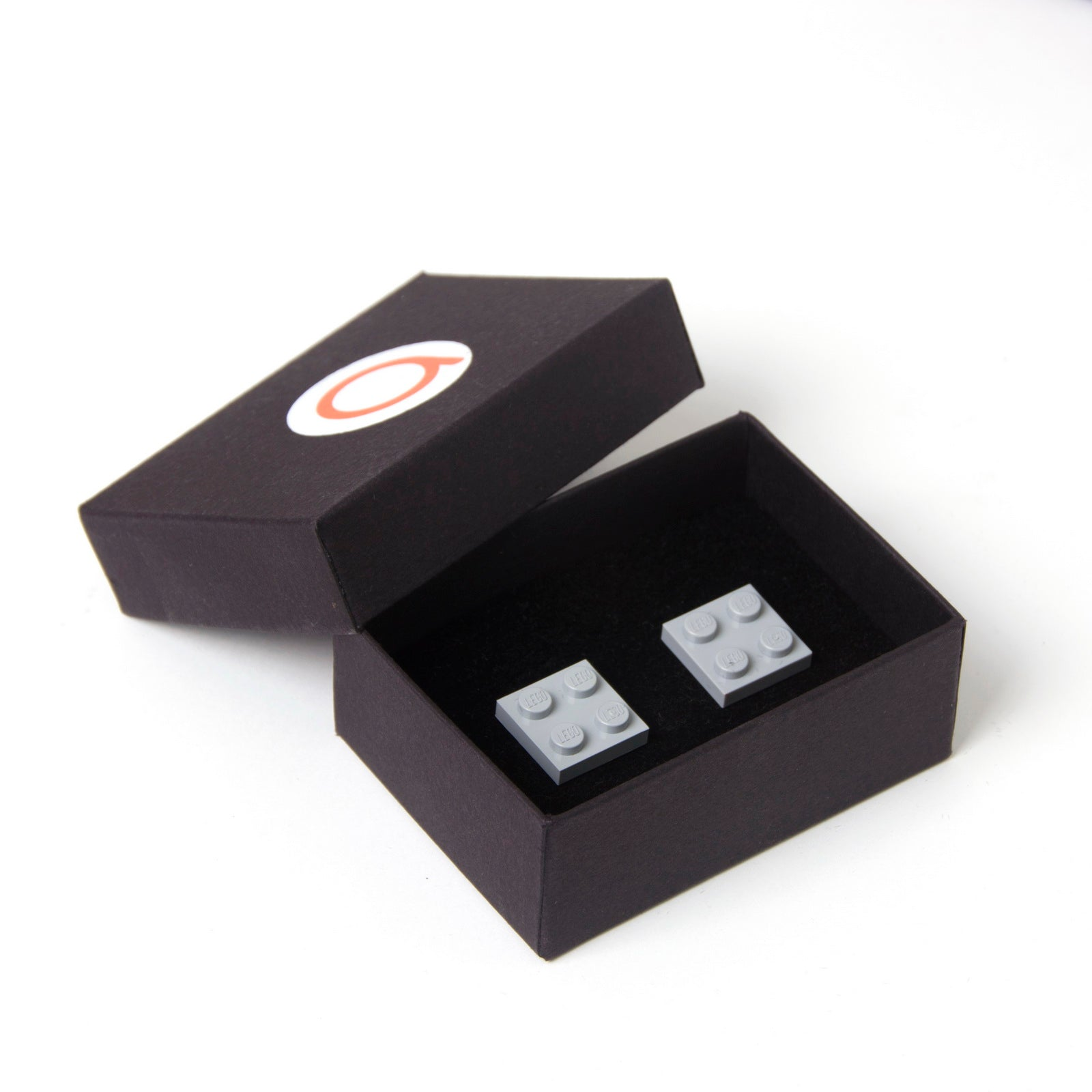 light grey flat cufflinks