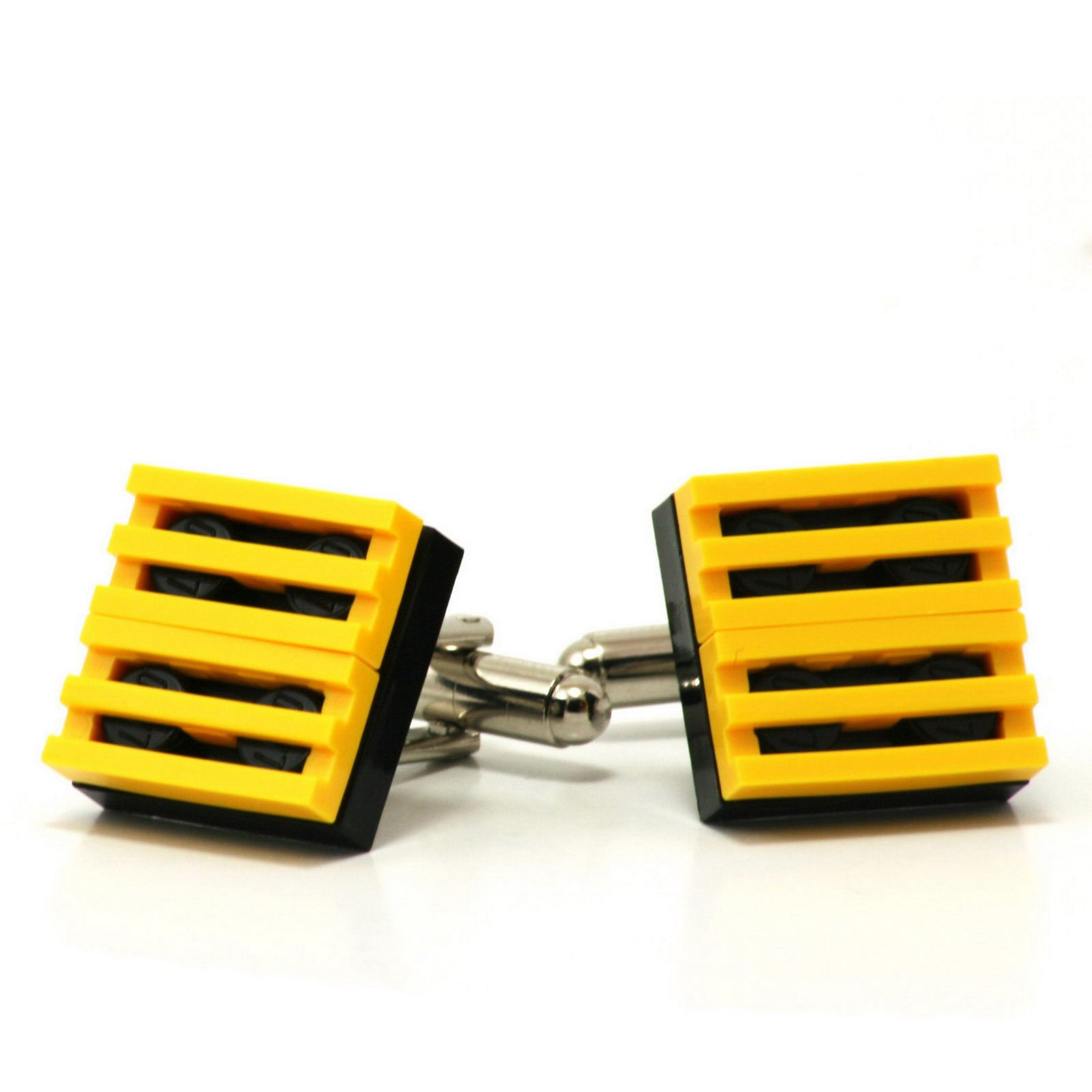 black & yellow grill cufflinks