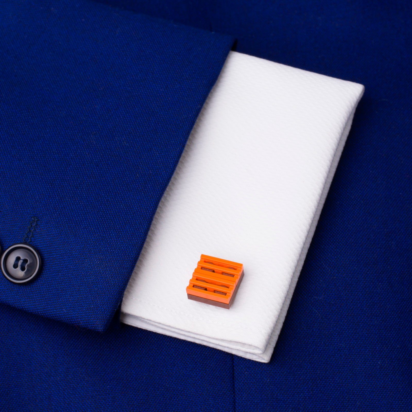 brown & orange grill cufflinks