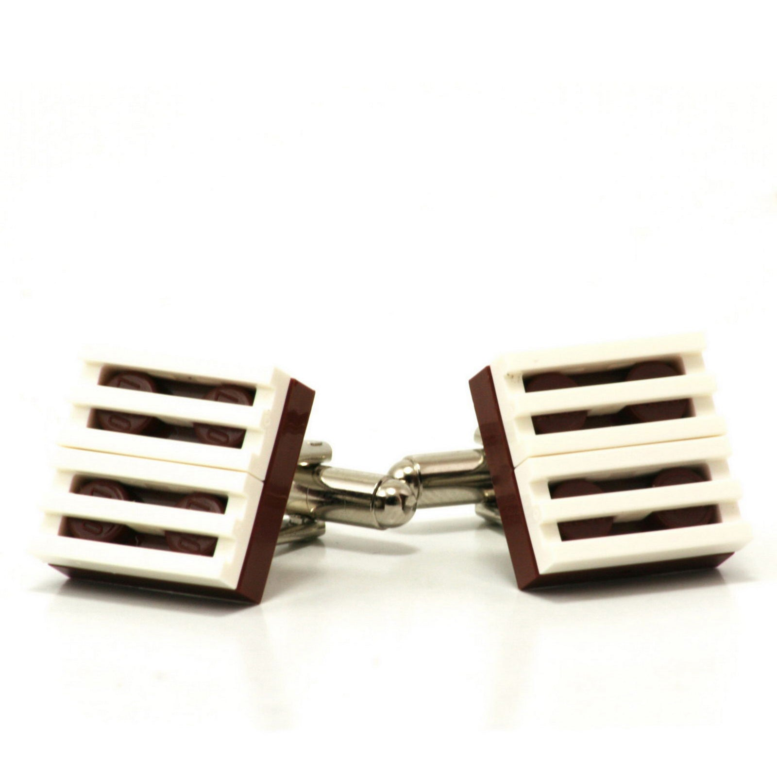 brown & white grill cufflinks