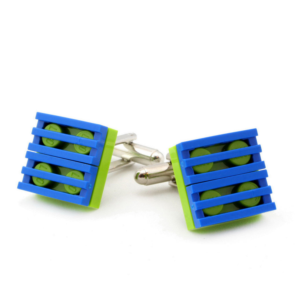 lime & blue grill cufflinks