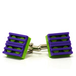 lime & purple grill cufflinks