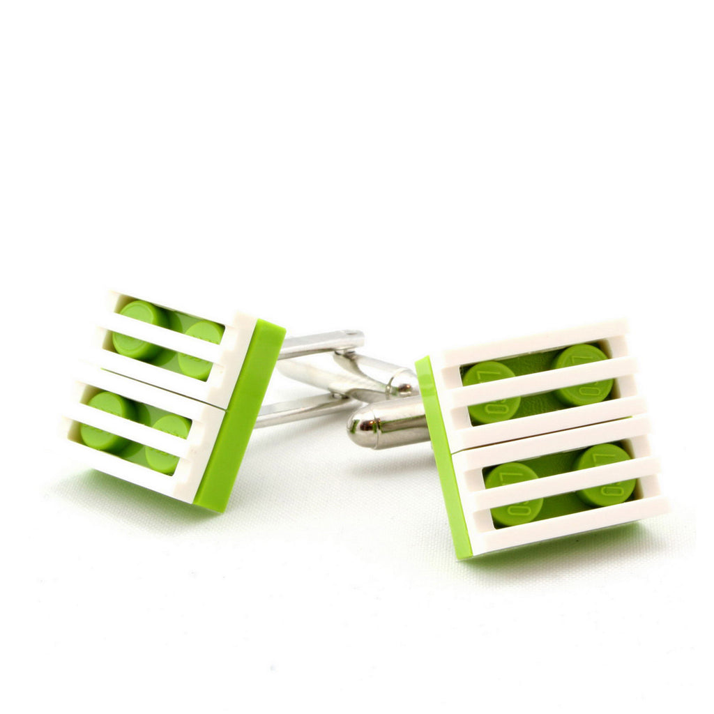 lime & white grill cufflinks