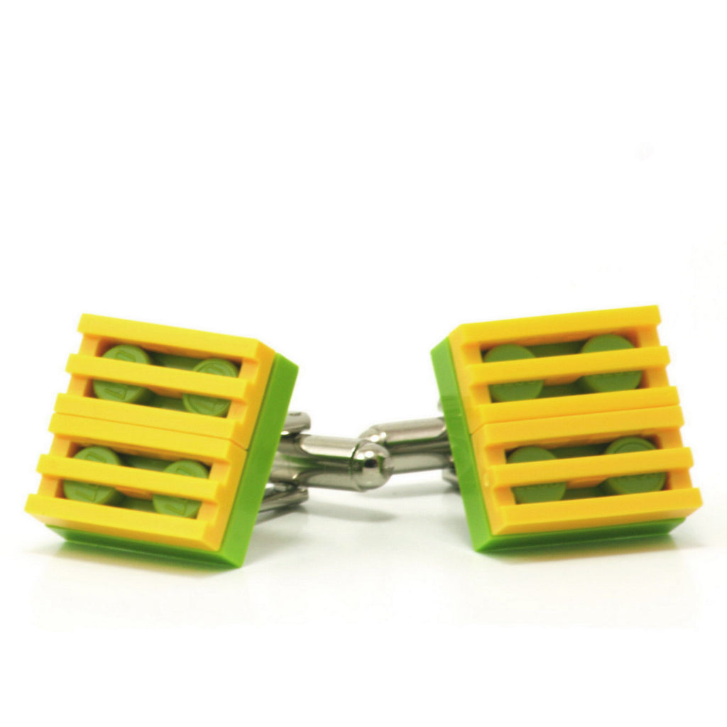 lime & yellow grill cufflinks