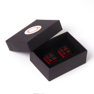 red & black grill cufflinks