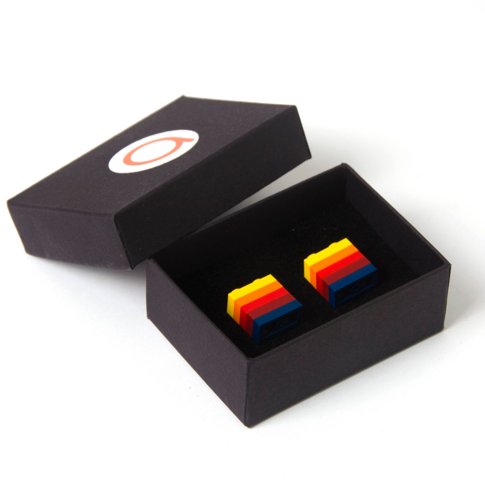 MEXICO striped cufflinks