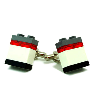 OSAKA2 striped cufflinks