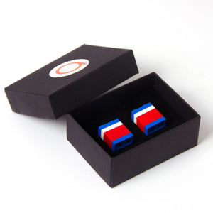 WASHINGTON striped cufflinks