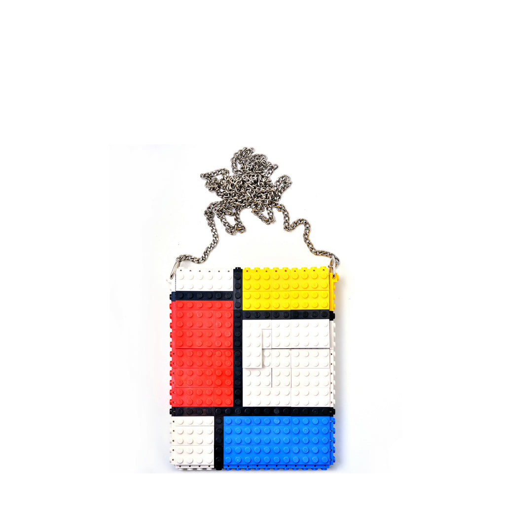 Mondrian hip clutch on a chain