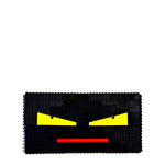Black monster face oversize clutch